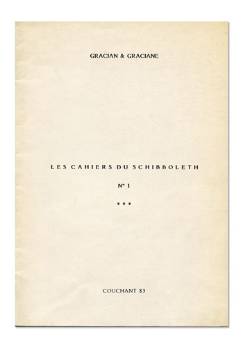 Les Cahiers du Schibboleth n°1