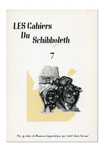 Les Cahiers du Schibboleth n°7
